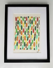 Sonia Delaunay-Silk Fabric-Compositions Planche 40-Signed-Framed