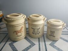 Country Western Canister Set