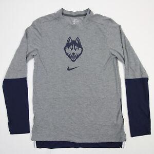 UConn Huskies Nike Dri-Fit Long Sleeve Shirt Men's Gray Used