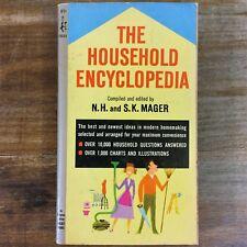 HOUSEHOLD ENCYCLOPEDIA by N.H.&S.K. Mager 1966 Paperback Homemaking POCKET BOOK