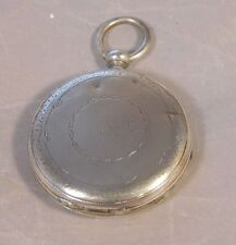 VINTAGE COIN SILVER MOYNER GENEVA POCKET WATCH CASE FOUR HOLES JEWELED ENGRAVED