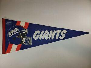 Vintage New York Giants 1980's NFL Football Pennant Flag 29x12 See Description