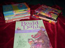Lot 14 Roald Dahl HB/PB BFG Charlie Twits Books + 2 DVDs Old/New Movie Version