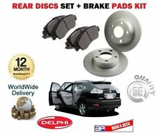 FOR TOYOTA HARRIER 2.4 GREY IMPORT 2003--> REAR BRAKE DISCS SET +  PADS KIT