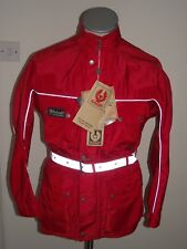 Belstaff Tourmaster Waterproof Motorcycle Jacket Trials ISDT Enduro Red NWT S/M