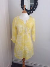 beautiful bright yellow tunic dress by boden. uk size 12R NWOT