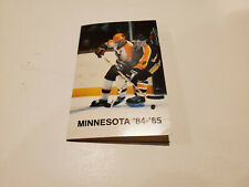 University of Minnesota 1984/85 Men's Hockey & Basketball Pocket Schedule