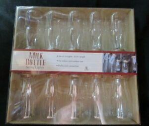 NIP- 10 Milk Bottle Rustic Farm String Lights 8.5ft long  Indoor/Outdoor Wedding