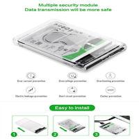 Enclosure 2.5 Inch USB 3.0 SATA HDD SSD Solid State Drive Hard Disk Box Case 2TB