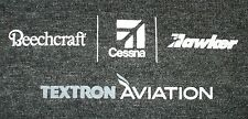Textron Aviation Beechcraft Cessna Hawker Adult Large Gray Shirt Logo Front Only
