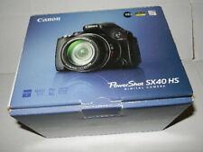 display CANON PowerShot SX40 HS 12MP Digital Camera no warranty power sx40hs blk