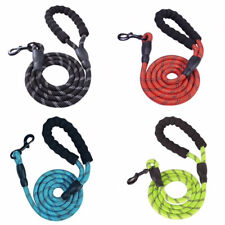 Dog Puppy Leash - Reflective Heavy Duty Rope Lead -  Padded Handle -  5'