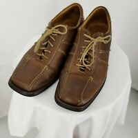Sandro Men's Bicycle Toe Lace Up Oxfords Size 11D Brown Shoes Made in Brazil
