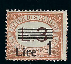 B&D: 1936-40 San Marino Scott J57 postage due MVLH