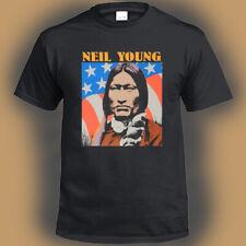 Neil Young Crazy Horse Logo Men's Black T-Shirt Size S M L XL 2XL 3XL