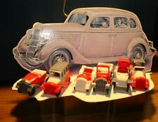CLASSIC CAR CHRISTMAS ORNAMENT BOX (6 Toy Cars inside!) Near Mint Condition