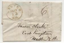 US Stampless Cover Exeter NH May 23, 1843 GREEN CDS Marriage Content