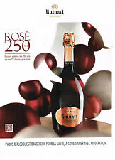 PUBLICITE ADVERTISING 025  2014  RUINART  champagne BRUT ROSE