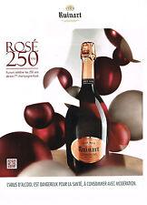 PUBLICITE ADVERTISING 025  2014  RUINART  champagne BRUT ROSE
