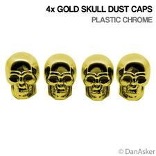 4x Gold Skull Car Bike Motorcycle BMX Wheel Tyre Valve Plastic Dust Caps