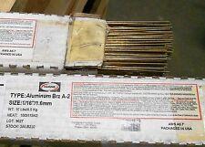 """1/16"""" x 36"""" 2Lb Harris 3ALB-2 Aluminum Bronze Tig Welding Rod Brz A-2 ERCuAl-A2"""