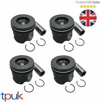 BRAND NEW FORD TRANSIT PISTON 2.4 MK7 RWD 2006 ON WITH RINGS & PIN PER 4 PISTONS