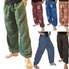 dca9e2dc615 Mens Womens Baggy Cotton Harem Trousers Pants Hippie Boho Aladdin Ali Baba  Yoga