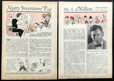 """Rube Goldberg 1930 vintage article """"Nutty Inventions Paid Me a Million"""""""