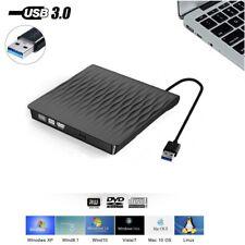 External Portable DVD Drive Slim USB 3.0 DVD/CD Re-Writer Burner Reader RW Drive