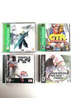Final Fantasy VII, Crash Team Racing, Bundle (Sony PlayStation 1) Lot, *TESTED*