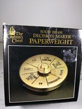 Captains Chest Solid Brass Decision Maker Paperweight R.O.C. Tiawan