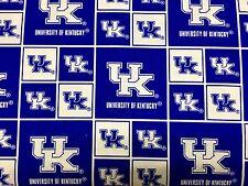 Kentucky Wildcats Tela de algodón Bt 1//2 yarda 3 impresiones Sykel Enterprises
