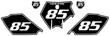 2003-2012 KTM 105 SX Custom Pre-Printed Black Backgrounds White Pinstripe