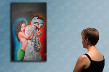 """47"""" MY LOVE original surrealist painting oil on canvas by Michael A."""