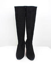 COLE HAAN Grand . OS Elisha Stretch Suede Black Boots, Size 9 B