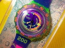 Swatch Scuba COMING TIDE in NEU & OVP + neuer Batterie SDJ100