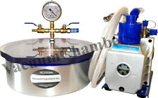 25CM Vakuumkammer 4.8L +51l/min Vakuumpumpe Entgasungskammer Vakuum Chamber Güte