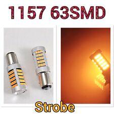 Strobe 1157 2057 3496 BAY15D P21/5W 63 LED Amber Front Turn Signal Light B1 #1