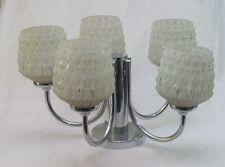 70er Design Deckenlampe Chrom Glas Soelken Sputnik