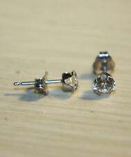 QVC Diamonique 14k White Gold .50ct round cut CZ stud earrings JCM