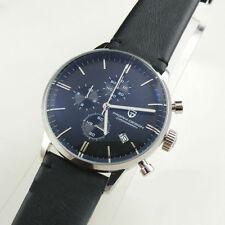 pagani design 43mm  chronograph black dial leather mens quartz stopwatch 1513