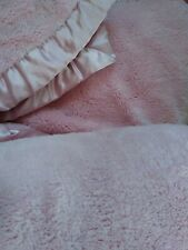simply shabby chic Pink Twin Blanket With Satin Edging