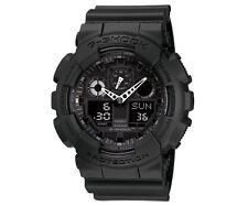 Casio G-Shock Watch GA-100-1A1 Mens Black Case Resin Analog Digital Sports Watch