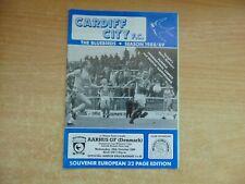 UEFA Cup Winners Cup 1988/9 Cardiff City v AGF Aarhus Denmark