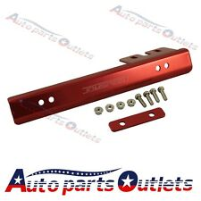 Bracket Relocator Holder Bar Universal Red  Front Bumper License Plate Mount