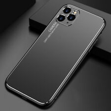 For iPhone 11 Pro Max Ultra Slim TPU Frame Metal Aluminum Back Panel Case Cover