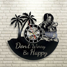 Bob Marley Reggae Wall Every Little Thing Music Decor Lyrics Vinyl Clock