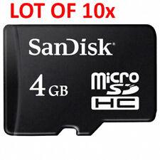 Lot of 10x (Ten) 4GB Brand Name Original MicroSD Micro SD SDHC Cards