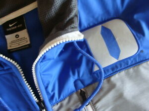 NIKE Therma-fit Duke Blue devils Blue & Gray Fleece Coat/Jacket Mens Medium