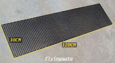 SET OF 2 SHEETS, UNIVERSAL HONEYCOMB ABS PLASTIC BLACK MESH GRILL 120 X 30 CM